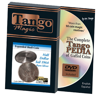 Expanded Shell Half Dollar 1964 (Tail) (w/DVD) (D0133) by Tango - Trick - Got Magic?