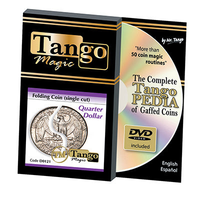 Folding Quarter dollar (Single cut w/DVD) (D0121) by Tango - Trick - Got Magic?