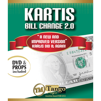Kartis Bill Change 2.0 (w/DVD) by Kartis and Tango Magic - Trick - Got Magic?
