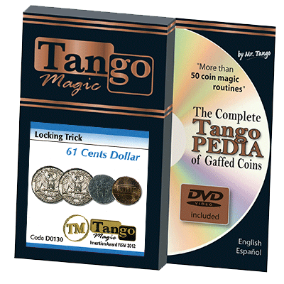 Locking Trick 61 cents (w/DVD)(2 Quarters, 1 Dime, 1 Penny) by Tango - Trick (D0130) - Got Magic?