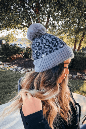 Snow Leopard Beanie | Gray - discounted-upsells-test-7