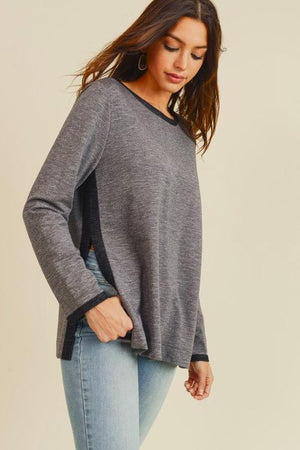 Carmen Contrast Top | Charcoal - discounted-upsells-test-7