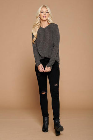 'Snap To It' Sweater | Charcoal - discounted-upsells-test-7