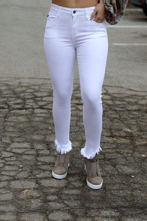 KANCAN BOTTOMS 24 RESTOCKED! Chic White Skinnys | Kancan