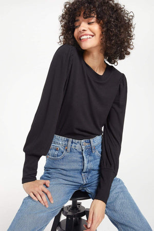 RESTOCKED! Vada Marled Top-Black | Z Supply - Katina's