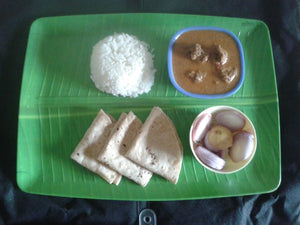 Malvani Chicken Curry, Rice , Chapati  (3 Nos ), Onion Slices -  - Homely - By Usha Parab