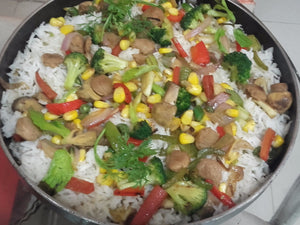 Mix Veg Smoked-Fried Rice with Salad -  - Homely - By Ashok Thakur