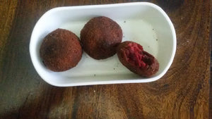 Medium Spicy Beet Root Cutlets(2) and Baked French Toast Fruit Cup(2)