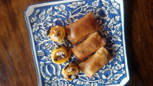 Spring Rolls (3) and Banana Rolls (3)