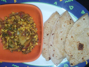 Mug - Matki mix Sabji with Chappati(4) & Papad