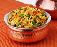 Party Pack : Handi Vegetable Biryani with Plain curd, Papad and Gajar Halwa / Sevai Kheer
