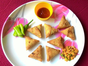 Gujarati Snacks - Surati Samosa (Chana Dal Stuffing) (35 nos) - Homely - By Boskey Bardoliwala - 1