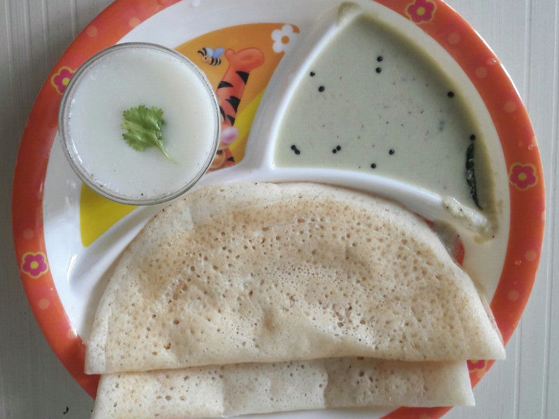 Dosa(4) with Nariyal Chutney & Masala Chaas -  - Homely - By Anju Singh