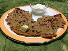 Aloo Pyaaz Paratha (3) with Curd -  - Homely - By Rekha Singla - 2
