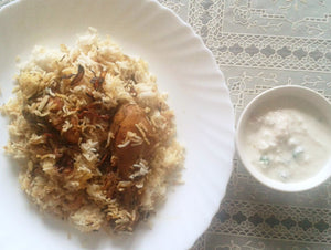 Malabari Chicken Biryani with Raita