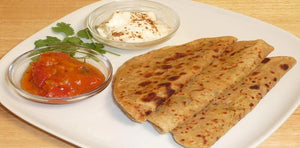 Aloo Paratha (2 or 3) with Curd & Pickle
