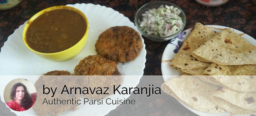 Masoor with Mutton Cutlets & Chapatis with Salad -  - Homely - By Arnavaz Karanjia
