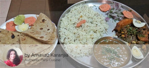 Authentic Parsi Style - Papri with Potatos and Boiled Egg, Chapati(4), Masoor, Jeera Rice and Salad -  - Homely - By Arnavaz Karanjia