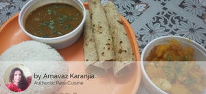 Potato Sabji with Roti, Masoor, Rice, Pickle and Salad -  - Homely - By Arnavaz Karanjia