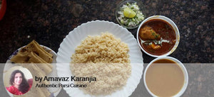 Chicken Masala with Veg Dhansakh Dal, Brown Rice, Roti and Salad -  - Homely - By Arnavaz Karanjia