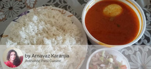 Egg Curry with Rice & Salad -  - Homely - By Arnavaz Karanjia