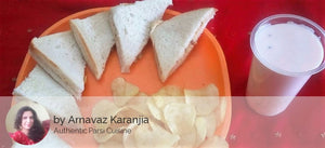 Chicken Mayonnaise Sandwiches (3) with Waffers & Rose Falooda -  - Homely - By Arnavaz Karanjia - 1