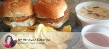 Spicy Chicken Burgers (2) with Wafers and Fruit Salad in Orange Custard -  - Homely - By Arnavaz Karanjia - 2