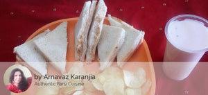 Chicken Mayonnaise Sandwiches (3) with Waffers & Rose Falooda -  - Homely - By Arnavaz Karanjia - 2