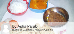 Mandeli (Golden Anchovies) Fish Curry, with Rice, Halwafry, Chapati & Salad -  - Homely - By Asha Parab