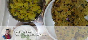 Aloo ki Sabji with Thepla(4) and Curd -  - Homely - By Asha Parab