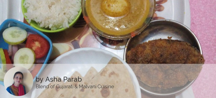 Egg Curry, Surmaifry, Rice, Chapati and Salad -  - Homely - By Asha Parab