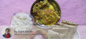 Tomato Curry with Rice, Chapati, Salad, Papad and Egg Omlet (2 Eggs) -  - Homely - By Asha Parab - 2