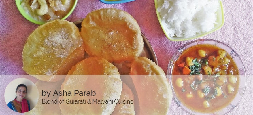 Chole - Puri (6),  Dal, Rice and Seviyan Kheer -  - Homely - By Asha Parab - 1