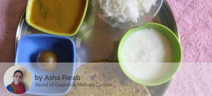 Aloo Paratha(3) with Curd, Dal Fry, Rice and Gulab Jamun -  - Homely - By Asha Parab