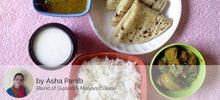 Brinjal-Potatoes Sabji with Chapati, Rice, Masoor Dal Fry and Butter Milk -  - Homely - By Asha Parab - 1