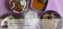 Surmai Fry, Fish Curry, Rice,  Chapati,   Papad and Salad -  - Homely - By Asha Parab - 1