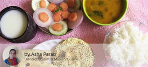 Aloo Sabji with Chapati, Rice, Dal Fry, Papad, Butter Milk and Salad -  - Homely - By Asha Parab - 2