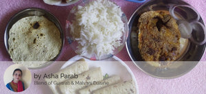 Surmai Fry, Fish Curry, Rice,  Chapati,   Papad and Salad -  - Homely - By Asha Parab - 2