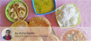 Chole - Puri (6),  Dal, Rice and Seviyan Kheer -  - Homely - By Asha Parab - 2