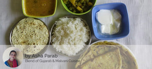 Aloo Parathas with Beans ki Sabji, Spicy Dal, Papad and Curd -  - Homely - By Asha Parab - 1