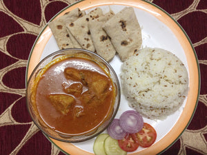 Punjabi Style Chicken Curry with Rice and Roti -  - Homely - By Rekha Singla