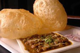 Chole Bhature with Salad