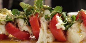 Homely Greens: Caprese Salad with Pesto Sauce