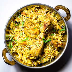 Chicken dum Biryani with Raita