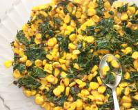 Homely Greens: Corn and Drumstick  Leaves Salad