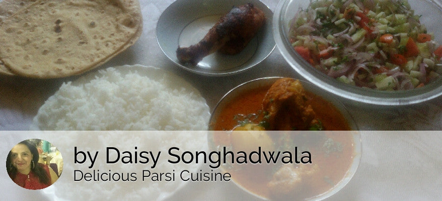 Chicken Curry (1 Leg Piece) with Chicken Fry (1 Leg Piece), Chapatis (4), Rice, Salad & Surprise Sweet -  - Homely - By Daisy Songhadwala