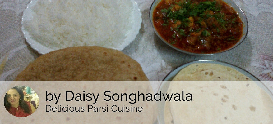 Prawns Masala, Chapatis(4), Rice, Papad and Sweet -  - Homely - By Daisy Songhadwala