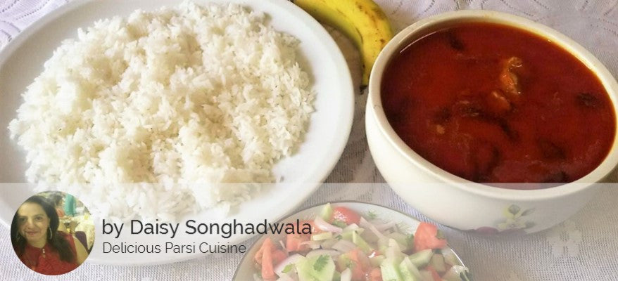 Chicken Curry, Rice, Salad, Banana, Surprise Sweet -  - Homely - By Daisy Songhadwala