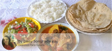 Chicken Gravy with Rice, Chapatis(4) and Salad - Optional - Mackeral (Bangda) Fry -  - Homely - By Daisy Songhadwala - 1