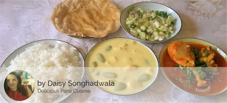Butter Chicken with Rice, Chapatis, Salad and Fruit Custard -  - Homely - By Daisy Songhadwala